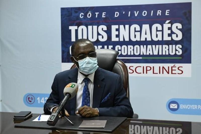 Le ministre de la Santé et de l'Hygiène publique, Dr Aka Aouélé