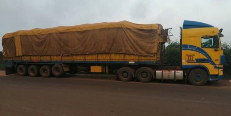 Un des trois camions saisis sur l'axe Presso-Ghana. (Gendarmerie)