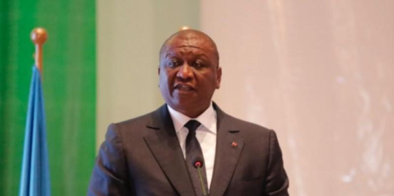 Hamed Bakayoko, ministre d'Etat, ministre de la Défense. (Dr)