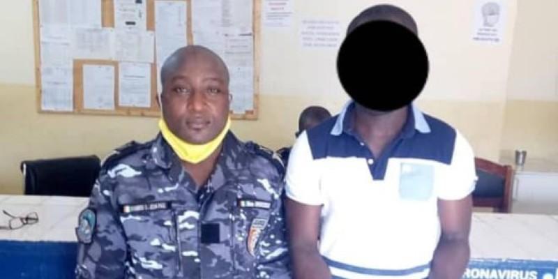 L'individu arrêté à Yopougon, à droite. (Dgpn)