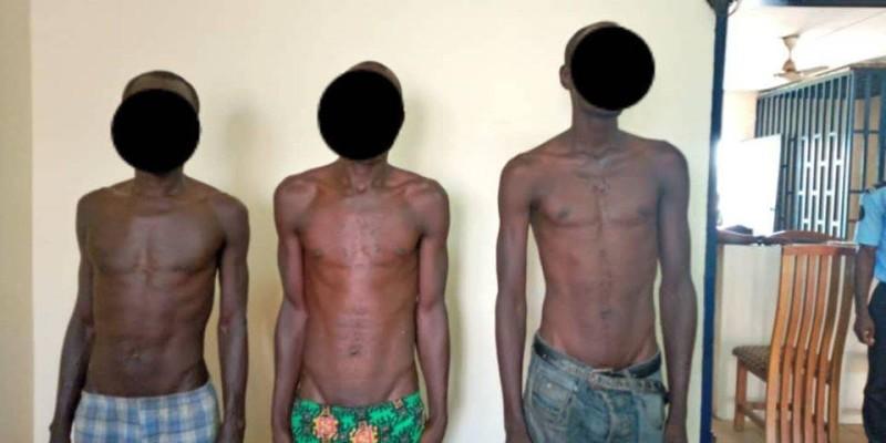 Les trois redoutables braqueurs qui sévissaient à Bonon sont désormais aux mains de la justice. (DR)