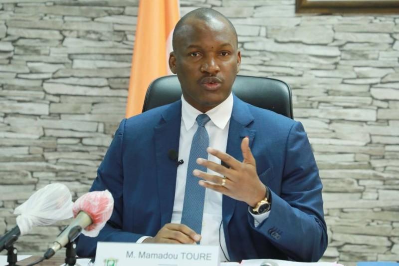 Le ministre de la Promotion de la Jeunesse et de l'Emploi des Jeunes, Mamadou Touré, lors de la conférence de presse du lundi 20 avril. (DR)