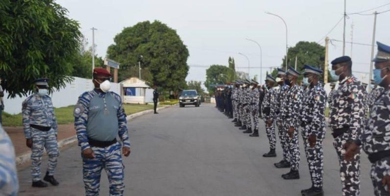 Le général de division Alexandre Apalo Touré se dit fier de ses éléments. (DR)