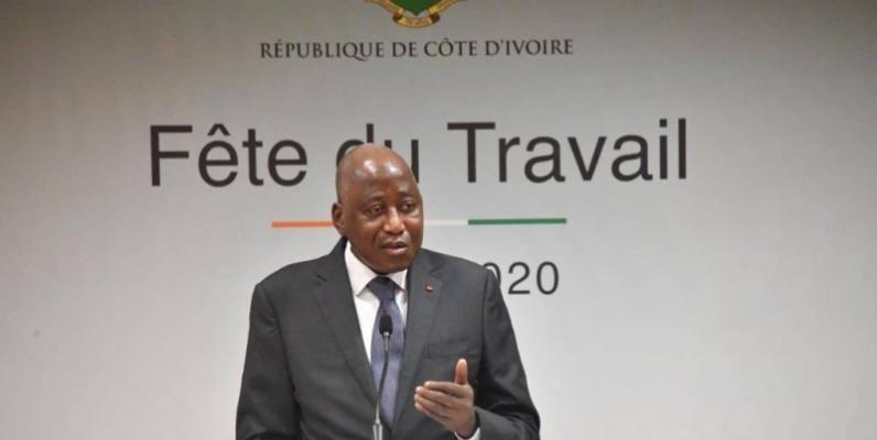 Le Premier ministre Amadou Gon Coulibaly, s'est adressé aux travailleurs ce 1er mai 2020, dans un contexte de pandémie à coronavirus. (DR)