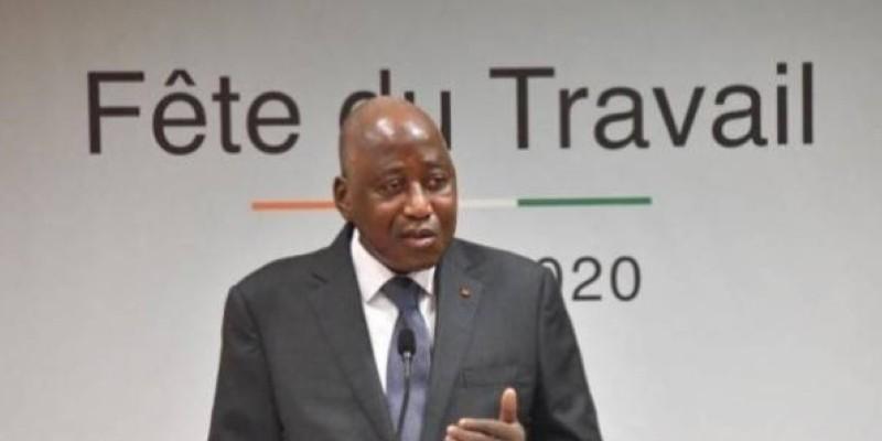 Amadou Gon Coulibaly exprime sa reconnaissance aux employeurs pour leur appui à l'Etat. (Dr)
