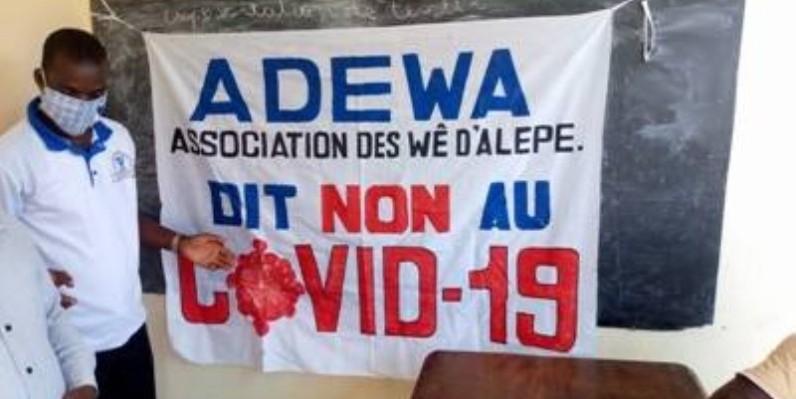 La communauté Wê sensibilise ses membres dans le département d'Alépé. (DR)