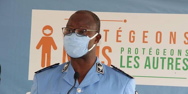 Le porte-parole de la police, le Commissaire Principal, Bleu Charlemagne, a fait le point du suivi des gestes barrières dans le secteur des transports. (Dr)