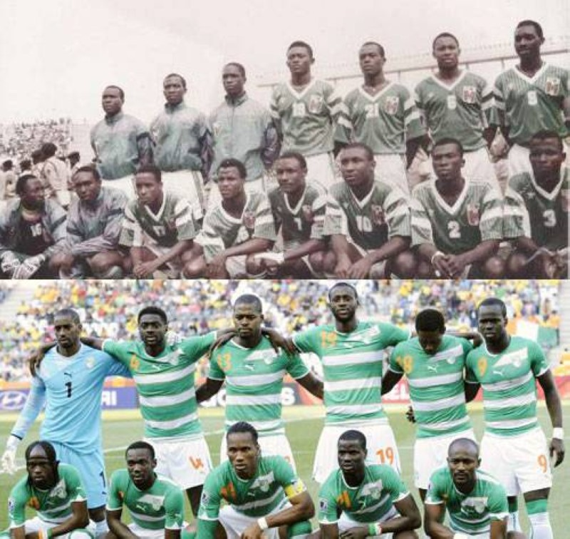 Les champions de Sénégal 92 et la génération dorée. (DR)