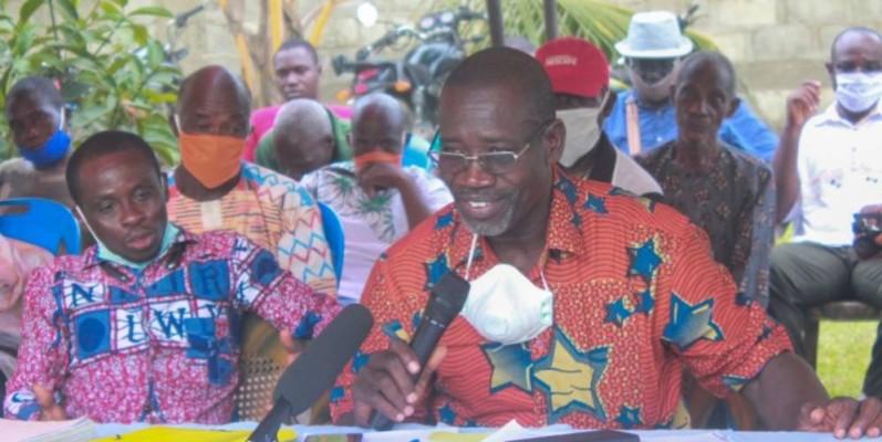 Affa Dominique, porte-parole des propriétaires terriens d'Ebimpé. (Dr)