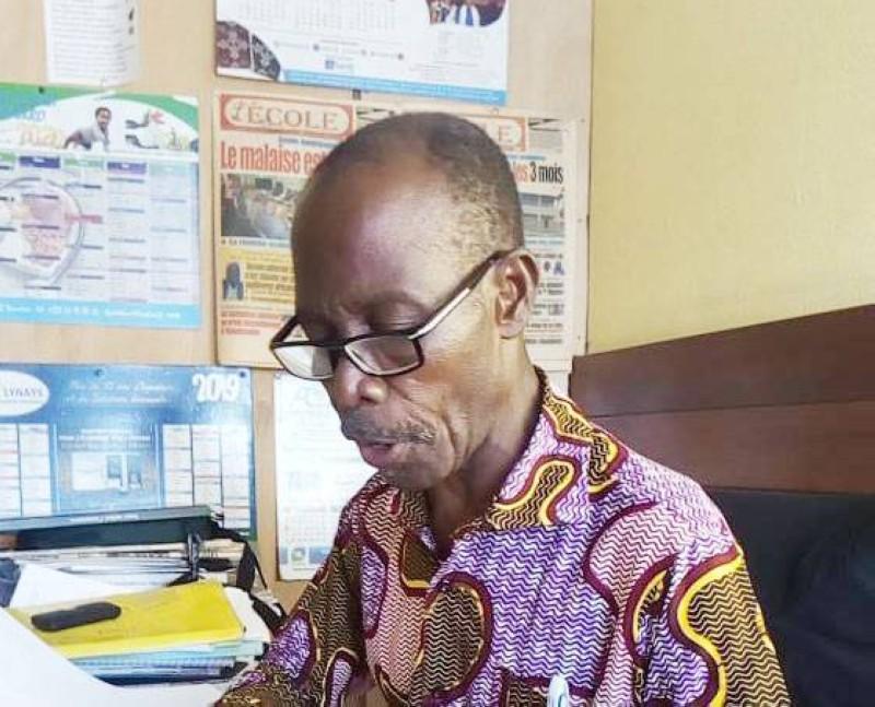 Aka Kadio, Président de l'Organisation des Parents d'Élèves et Étudiants de Côte d'Ivoire (OPEECI). (DR)