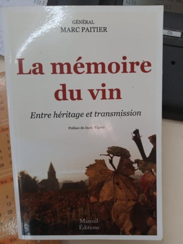 Livre La mémoire du vin. (DR)