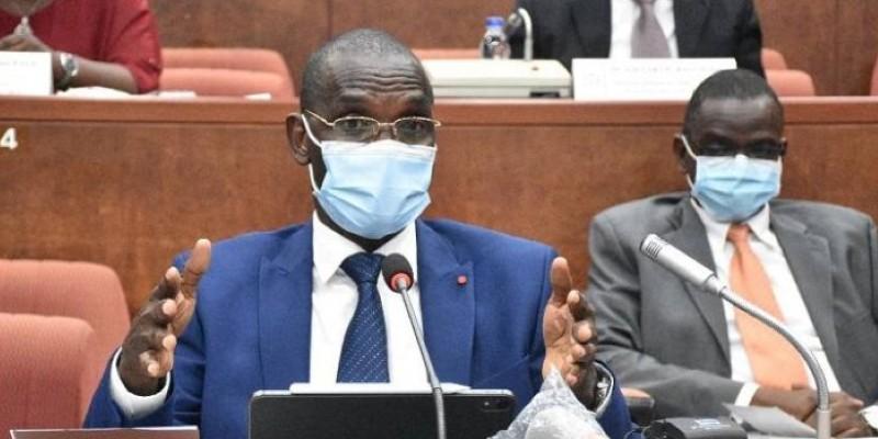 Le ministre Diomandé Vagondo était devant les sénateurs à Yamoussoukro. (Dr)
