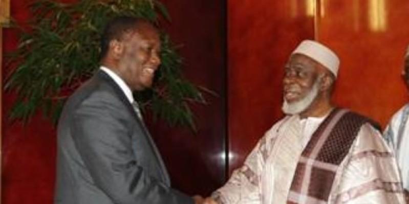Le Président Ouattara salue la mémoire du guide suprême de la communauté musulmane. (Dr)