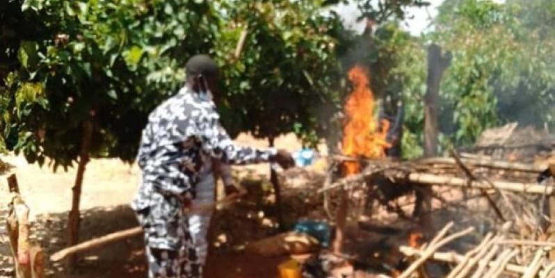 La destruction d'un site d'orpaillage clandestin. (DR)