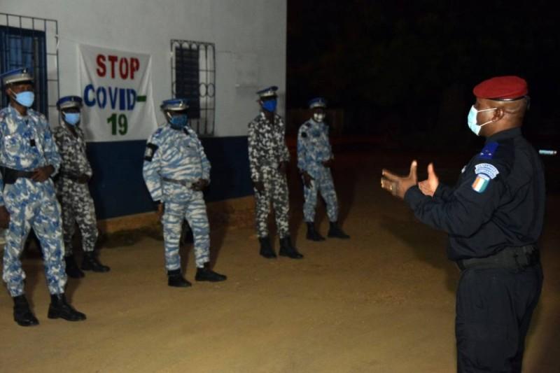 Le commandant supérieur de la Gendarmerie nationale en tournée à l'intérieur du pays. (DR)