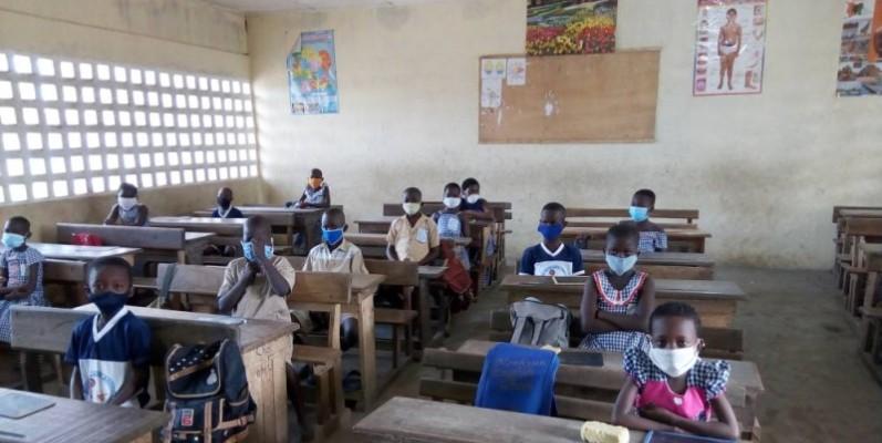 Les élèves de l'Epp Anoumabo 1. (Marie-Ange Akpa)