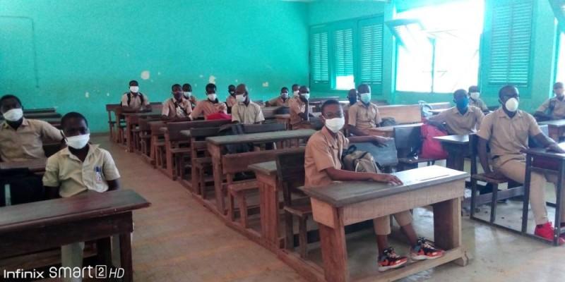 Les cours ont repris au lycée de Garçons de Bingerville. (Bavane)