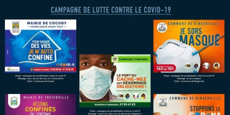 Ces affiches de la Cafci participent à la sensibilisation de masse des populations dans le District d'Abidjan. (DR)