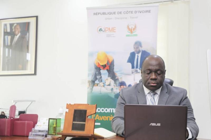 Le directeur général de l'Agence Côte d'Ivoire PME, Salimou Bamba