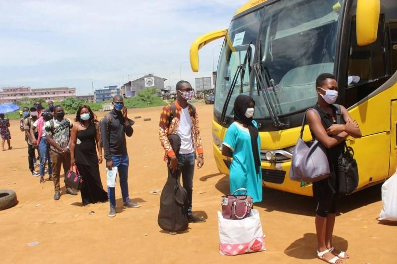 Le convoyage des étudiants, du personnels administratif et technique se poursuit
