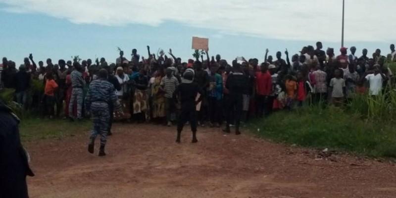 Une vue des manifestants. (DR)