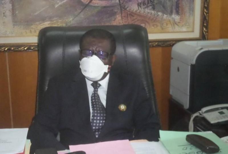N'Cho Acho Albert, maire d'Agboville.