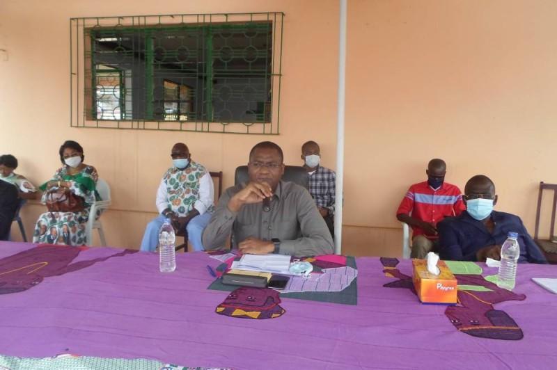 Sidi Touré, coordonnateur régional  du Rhdp de Gbêkê III, a rencontré les responsables départementaux du Rhdp de Sakassou pour leur demander d'être unis. (DR)