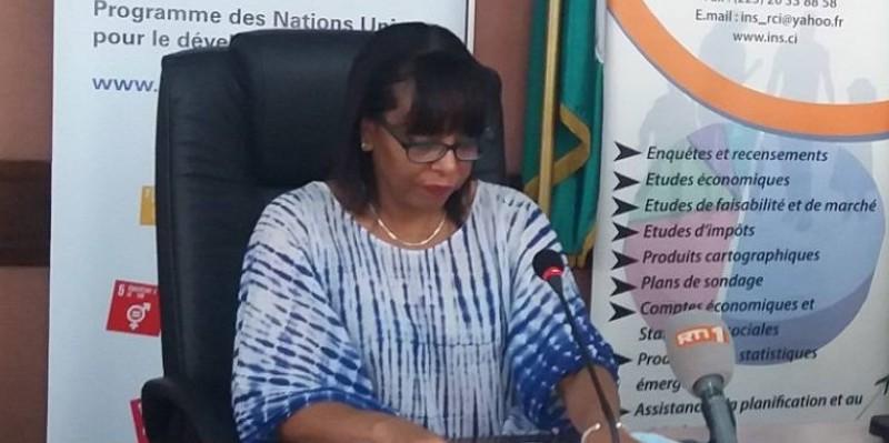 La Représentante résidente du PNUD, Carole Flore-Smereczniak, lors de la restitution des résultats de l'étude. (Dr)