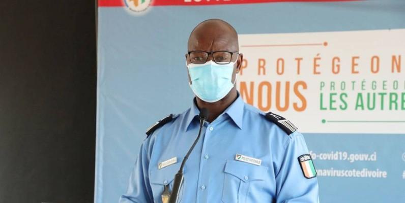 Charlemagne Bleu et Dr Édith Kouassi ont invité les populations à maintenir le niveau de vigilance et de le renforcer. (Poro Dagnogo)
