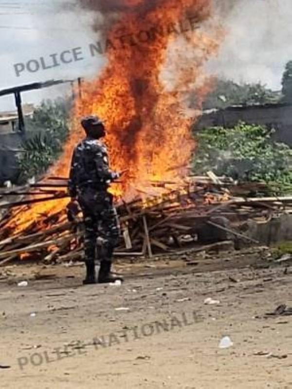 Destruction de fumoirs à Yopougon avec 18 personnes arrêtées (DR)