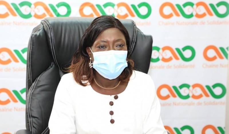 Professeur Mariatou Koné,ministre ivoirienne de la Solidarité, de la Cohésion Sociale et de la Lutte contre la Pauvreté.