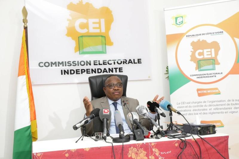 Le président de la Cei, Ibrahime Coulibaly-Kuibiert, a donné le maximum d'informations concernant l'inscription sur la liste électorale. (Dr)