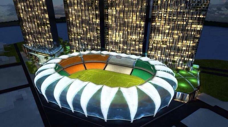 Une vue de la maquette du stade relooké. (DR)