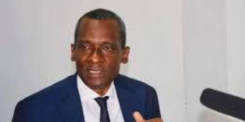 Le Secrétaire général et porte-parole du Fpi, Issiaka Sangaré. (Dr)