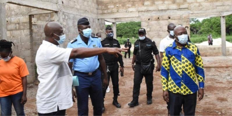 Une vue du chantier du commissariat de police. (DR)