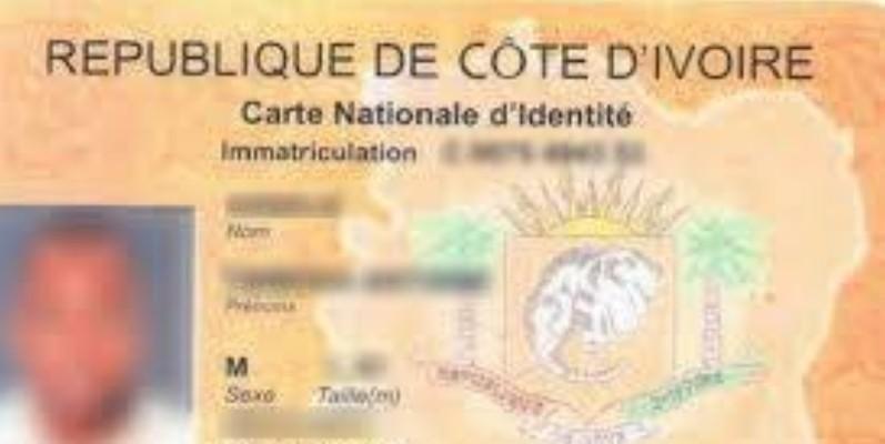 Une vue d'une Carte nationale d'identité. (Dr)