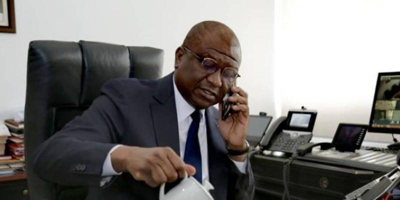 Le ministre d'Etat, ministre de la Défense, Hamed Bakayoko. (Dr)