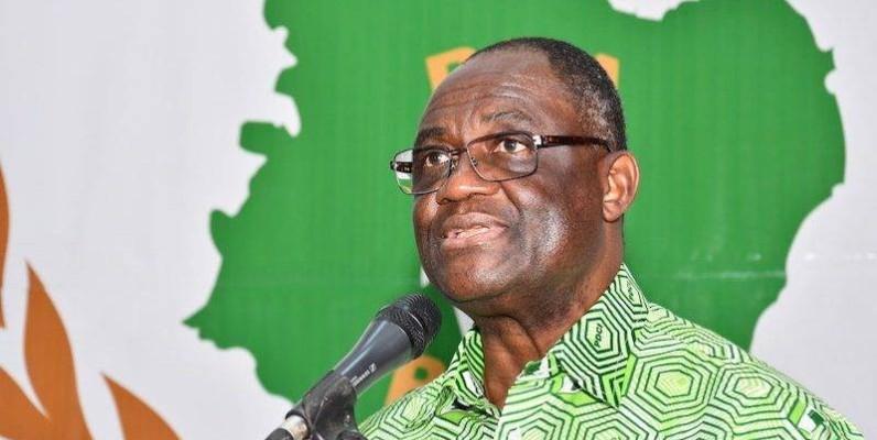 Le coordonnateur de la convention du Pdci-Rda, Maurice Kakou Guikahué a dressé les critères à remplir pour faire acte de candidature. (Dr)