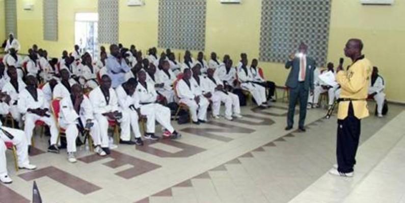 La communauté de taekwondo-in ivoiriens dirigée par le président Bamba Cheick Daniel se présente comme une des meilleures organisations sportives dans le pays. (Dr)