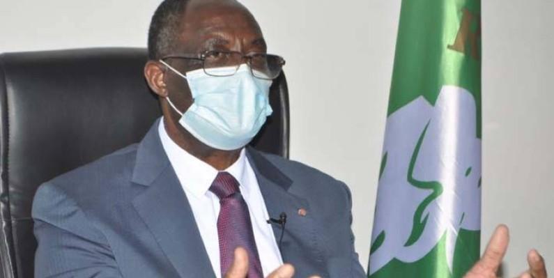 Pr Maurice Kakou Guikahué, secrétaire exécutif en chef du Pdci-Rda. (DR)