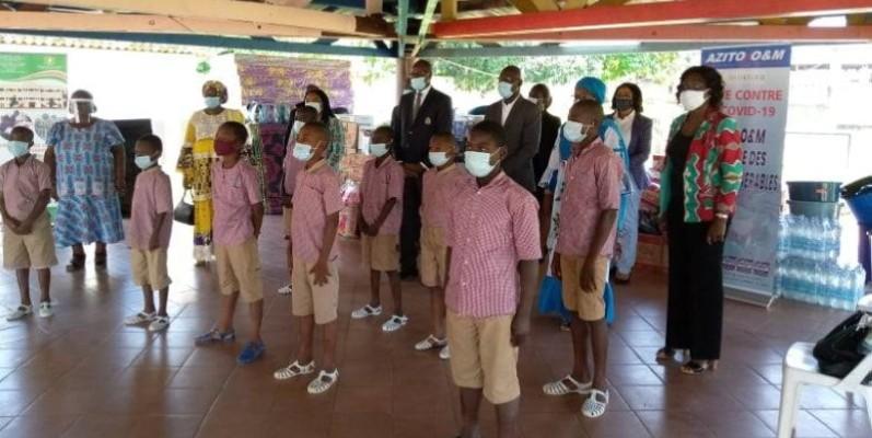 L'entreprise Azito O&M a offert des kits à l'Orphélinat garçons de Bingerville. (Dr)