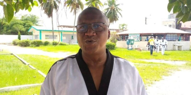 Me Soumah Serge, président de la Ligue de taekwondo de Cocody. (Dr)