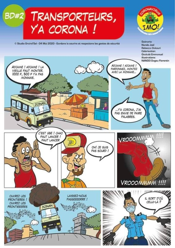 La bande dessinée est un puissant moyen de sensibilisation contre le coronavirus. (Dr)
