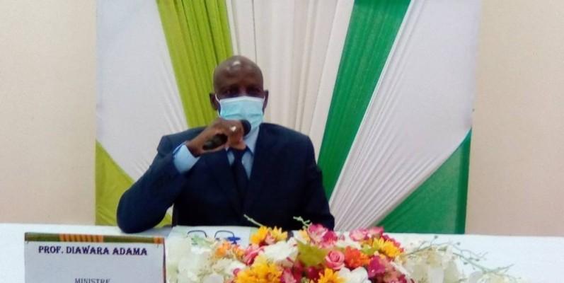 Adama Diawara, ministre de l'Enseignement supérieur et de la Recherche scientifique. (Photo: Franck YEO)