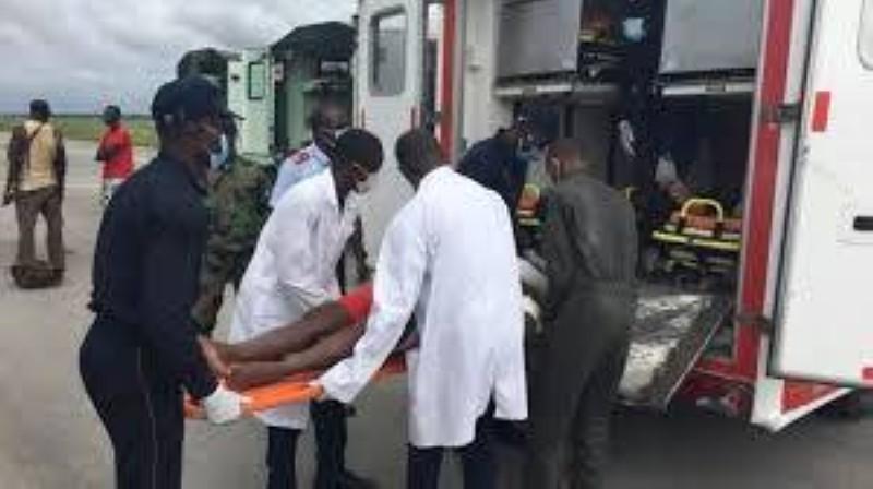 Les militaires ivoiriens blessés à Kafolo ont été rapatriés à Abidjan, le 11 juin 2020. (Dr)