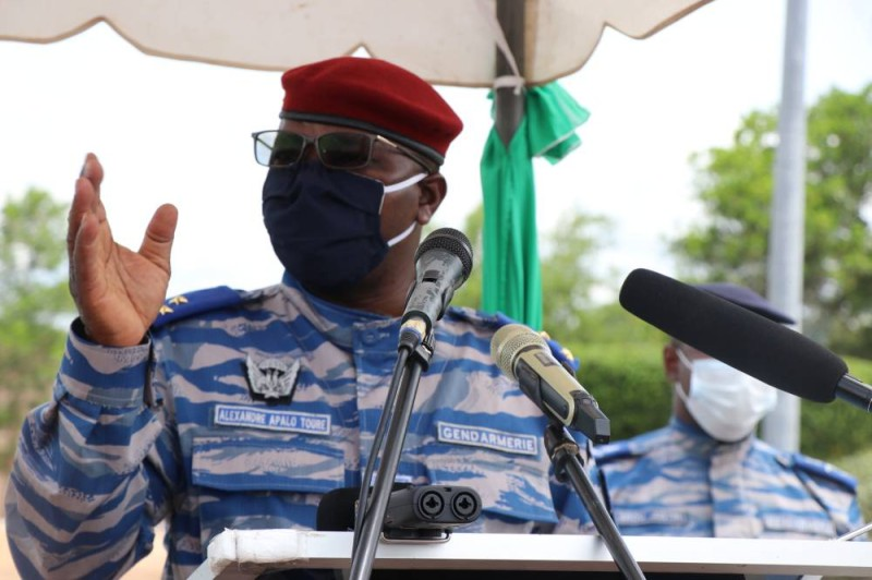 Le Général de Division Alexandre Apalo Touré, Commandant supérieur de la Gendarmerie (Photo : Gendarmerie)