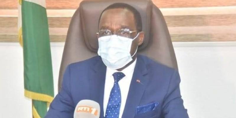 Le ministre de la Santé et de l'Hygiène publique, Aka Aouélé. (Dr)
