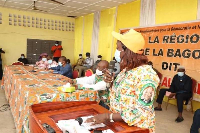 La ministre Mariatou Koné, Directrice exécutive Adjointe du RHDP, maire de la commune de Boundiali
