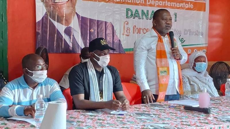 Sidiki Konaté ratisse large pour le Rhdp dans le Tonkpi. (Dr)