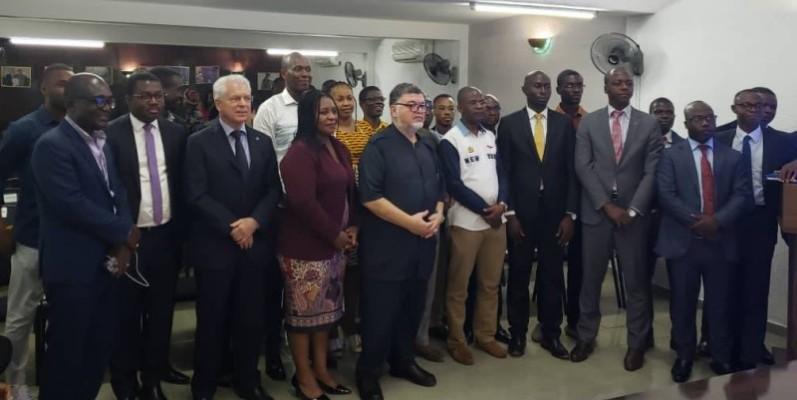 Au centre, Faycal Rghissassi président-fondateur du Réseau Heci Afrique. (Dr)